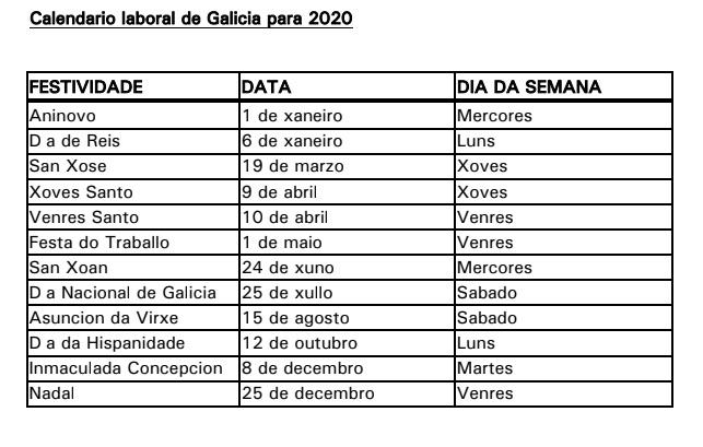 Calendario Laboral Ourense 2020.Falase De O Colexio De Avo Praza Publica