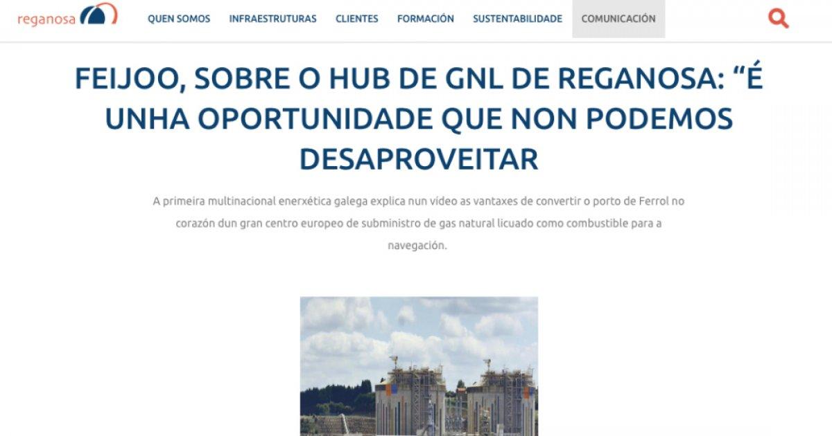 VÍDEO | Feijóo publicita Reganosa nun vídeo propagandístico da compañía -  Praza Pública
