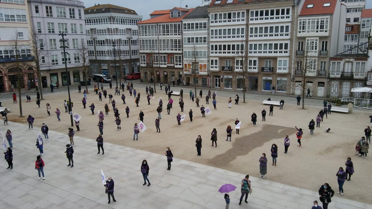 Manifestación en Ferrol 8M 2021 convocada pola CIG