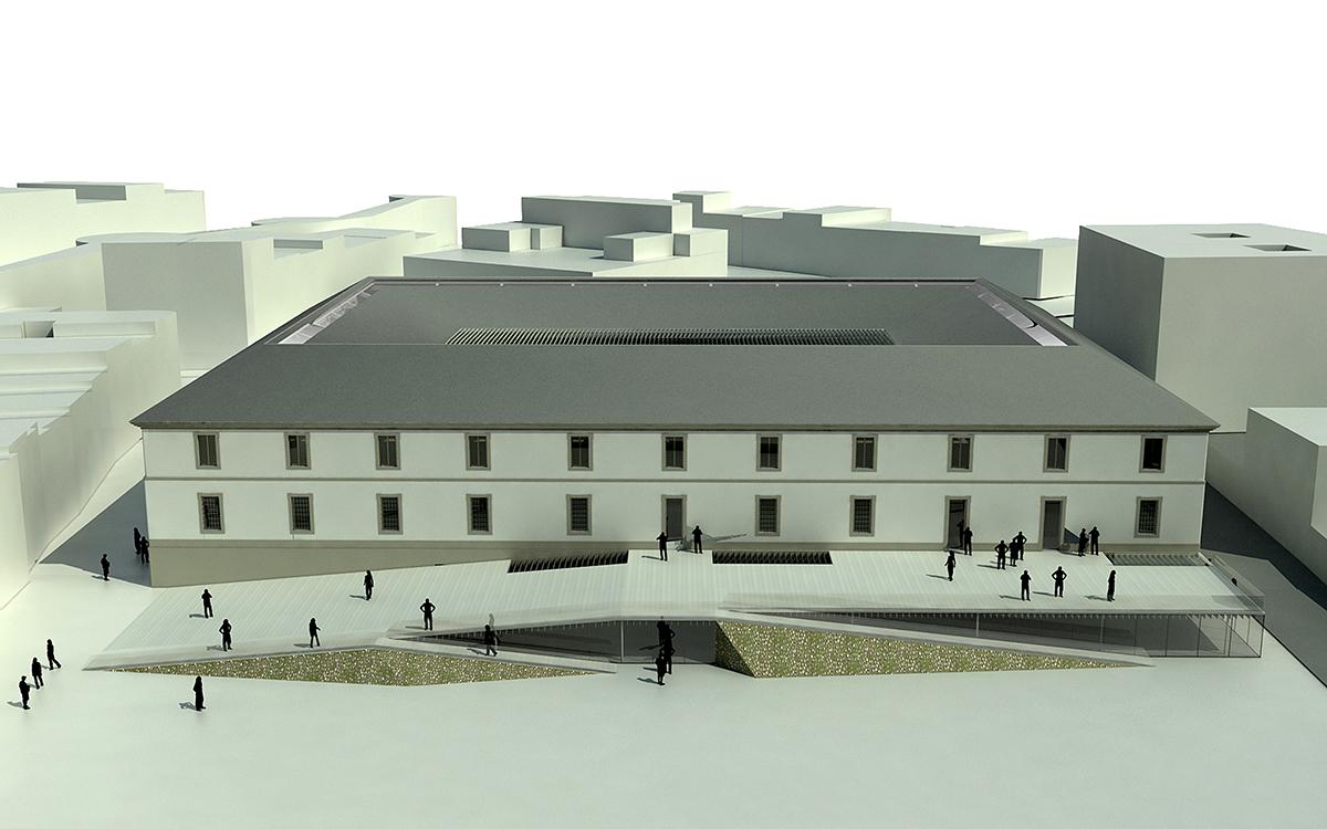 Recreación do proxecto gañador en 2013 para transformar o cuartel en Museo da Romanización | Buj Colón Arquitectos