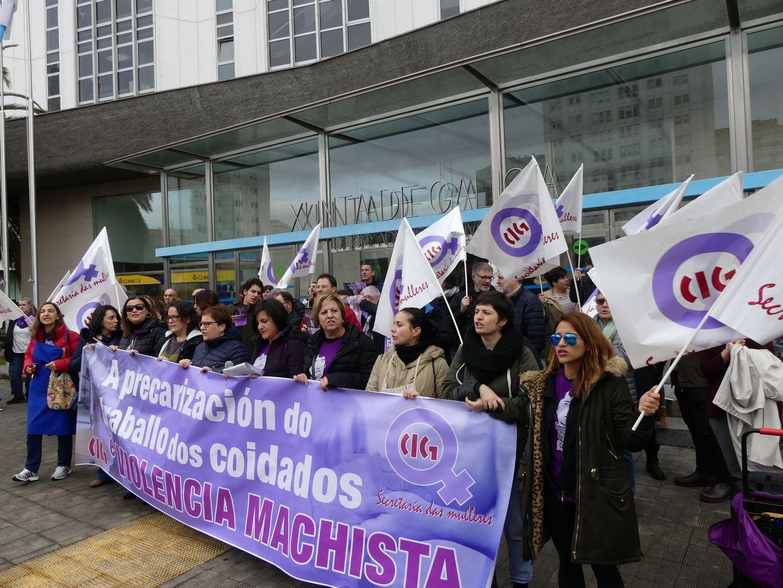 Concentración da CIG na Coruña, neste 25N do 2019   CIG