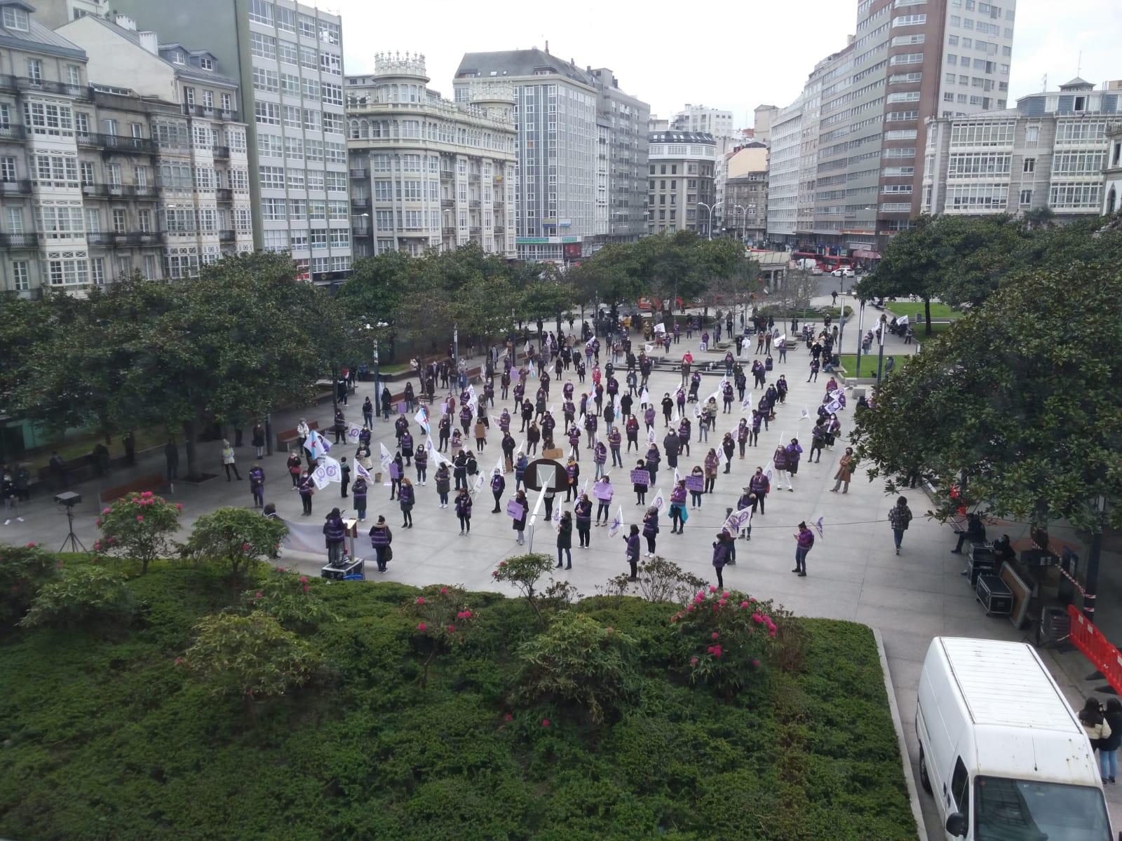 Manifestación na Coruña 8M 2021 convocada pola CIG