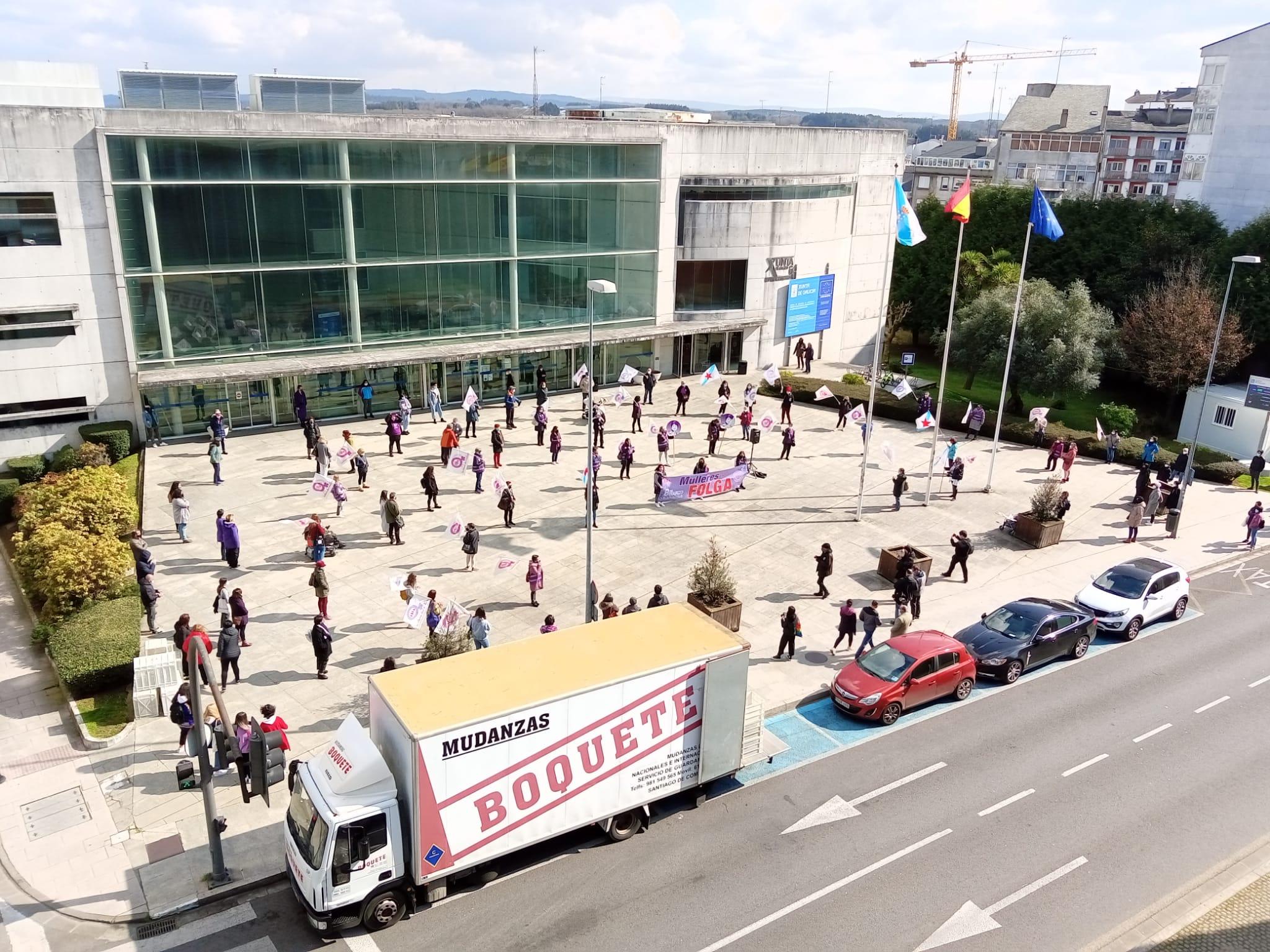 Manifestación en Lugo 8M 2021 convocada pola CIG