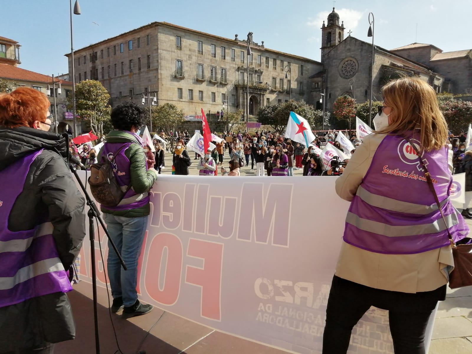 Manifestación en Pontevedra 8M 2021 convocada pola CIG
