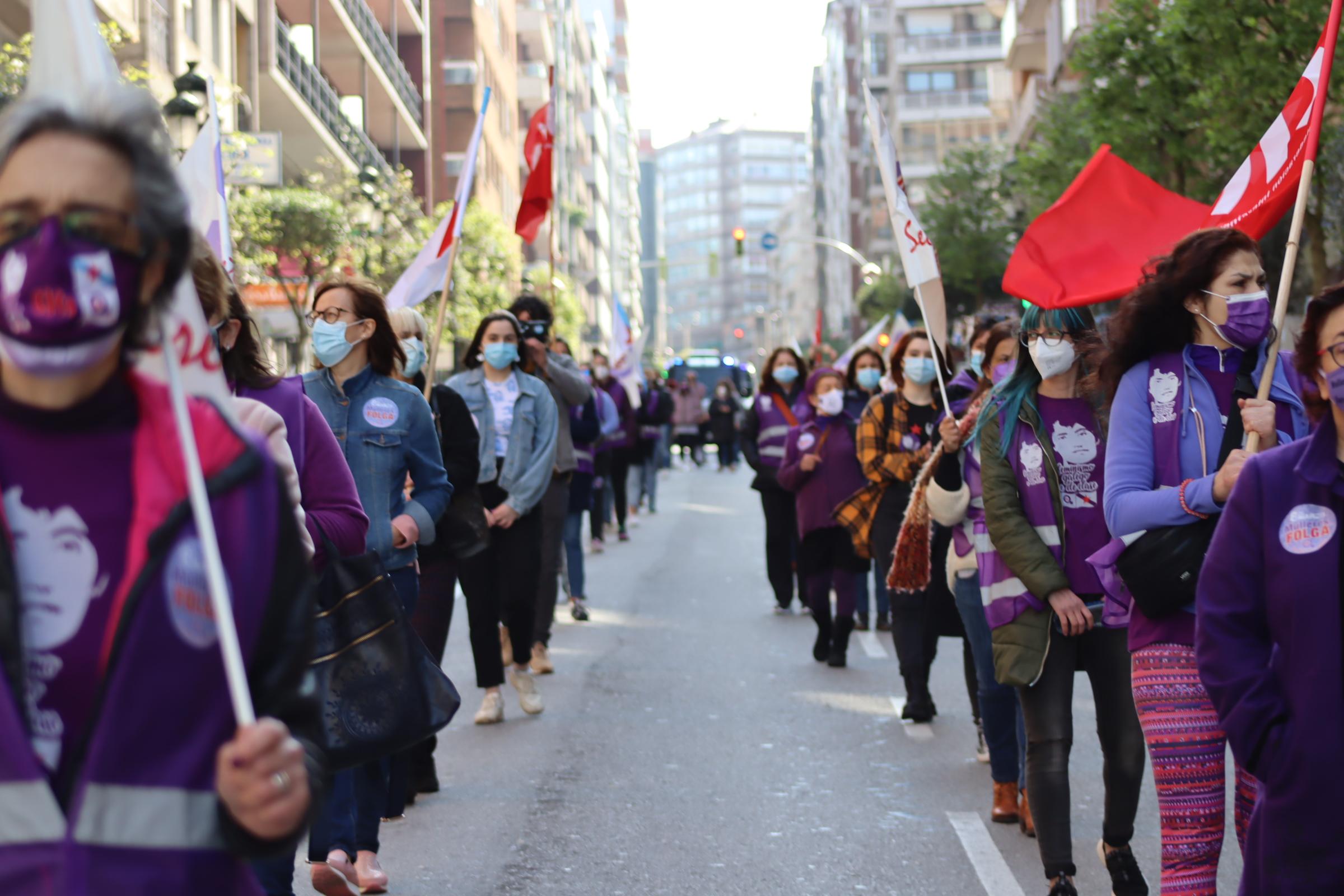 Manifestación en Vigo 8M 2021 convocada pola CIG
