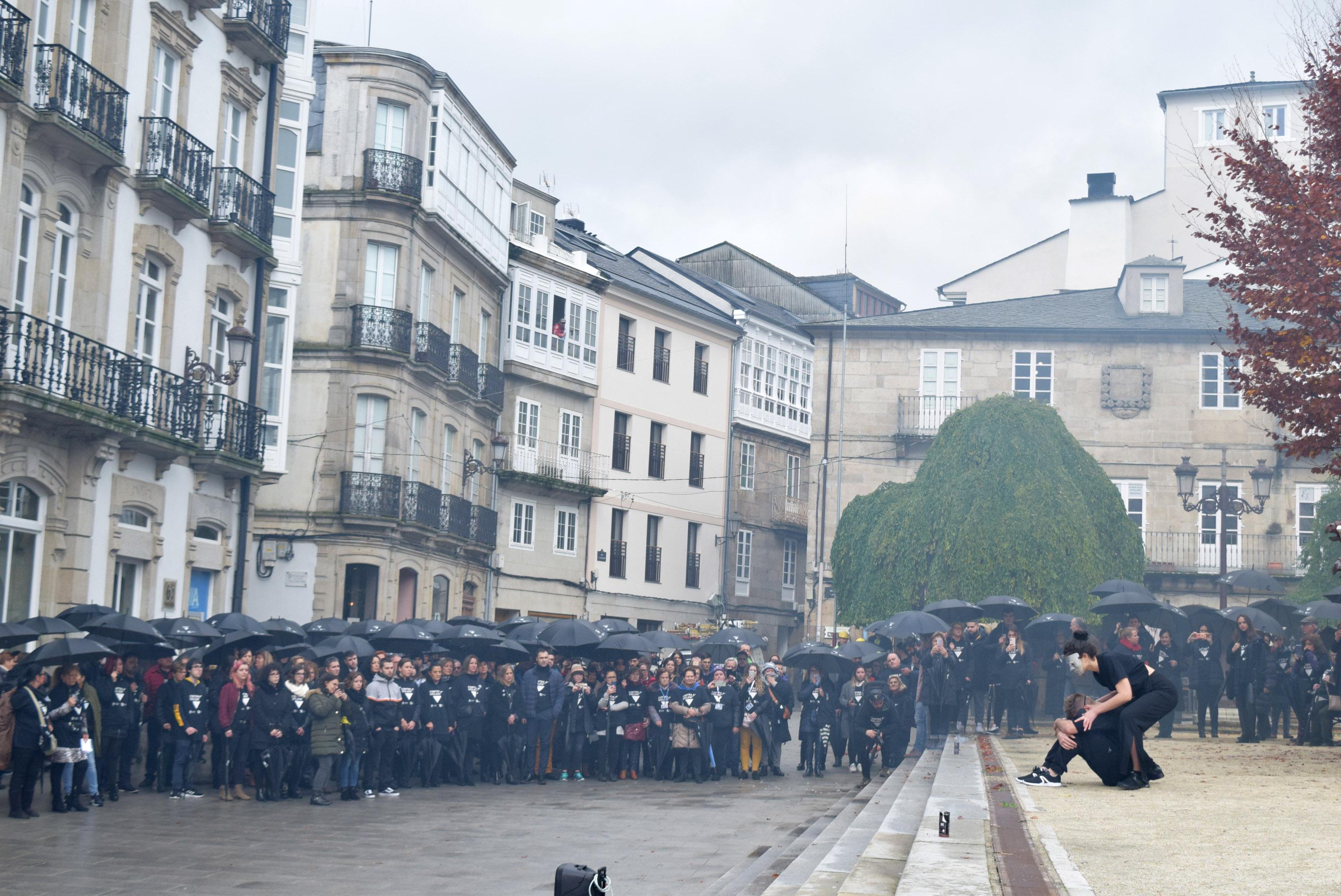 Acto central da campaña 'En Negro' en Lugo, neste 25N do 2019