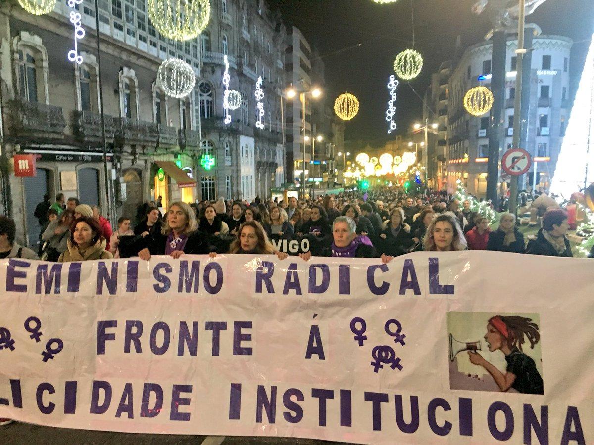 Mobilización contra a violencia machista en Vigo neste 25N do 2019   Galiza Contrainfo