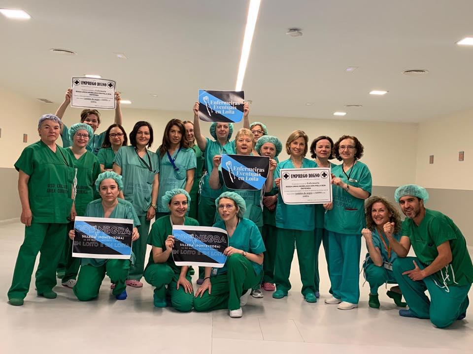 Apoio ás enfermeiras eventuais dende o HULA de Lugo