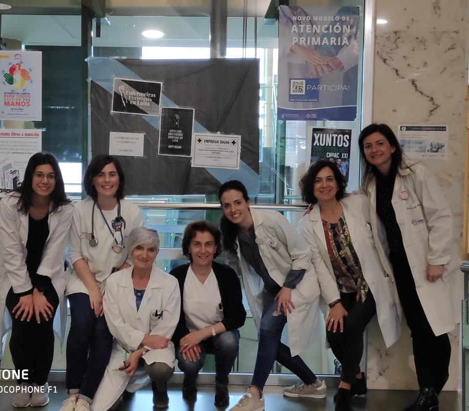 Outros apoios ás enfermeiras eventuais dende os centros sanitarios