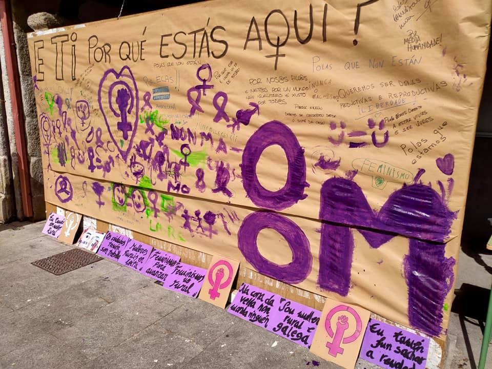 Acción feminista en Viana do Bolo, o 8M de 2020