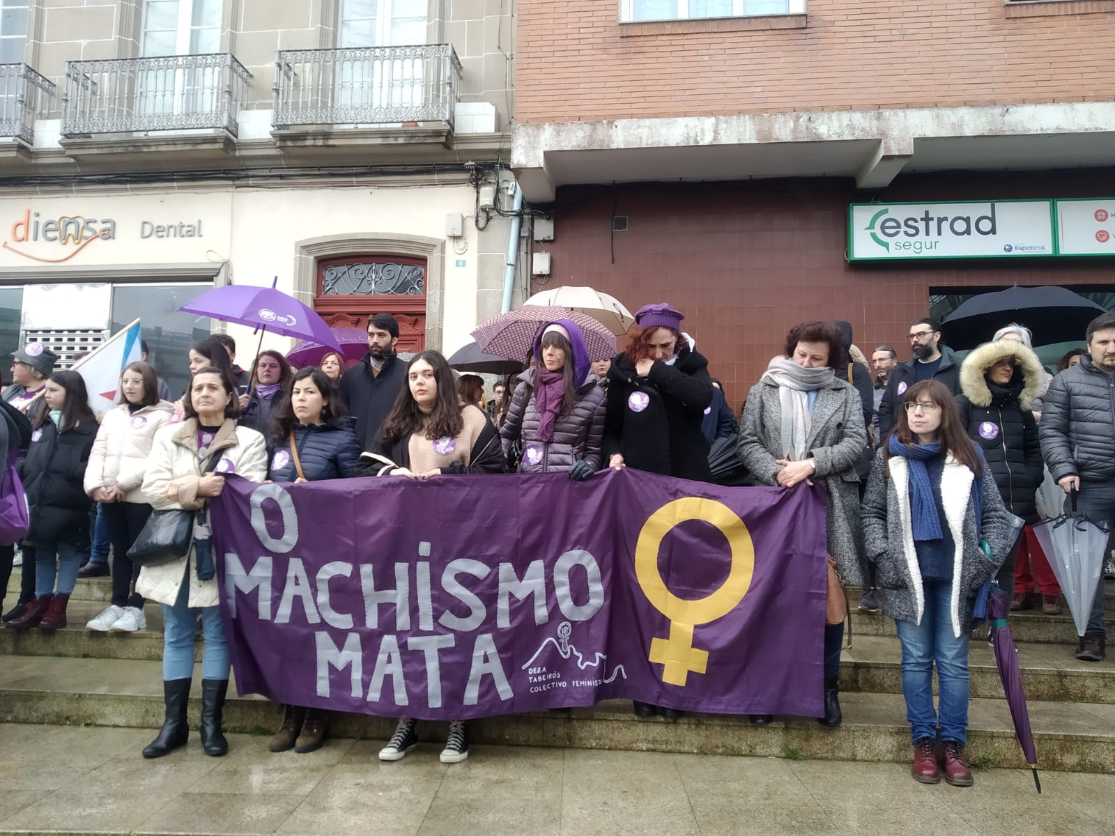 Concentración feminista na Estrada