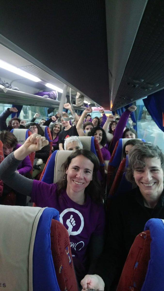 Autobús en dirección á manifestación de Lugo