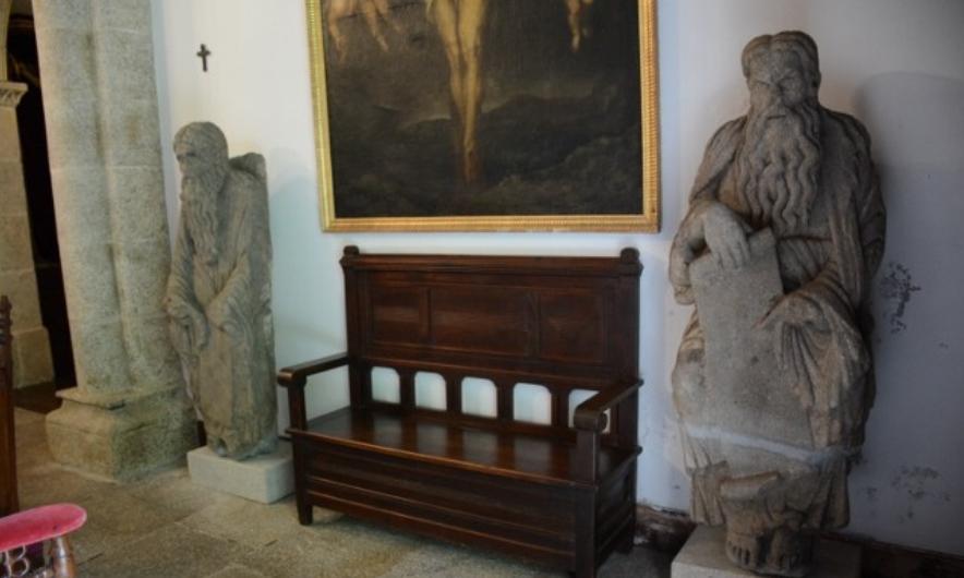 Esculturas de Abraham e Isaac, nunha imaxe incluída no inventario de Meirás