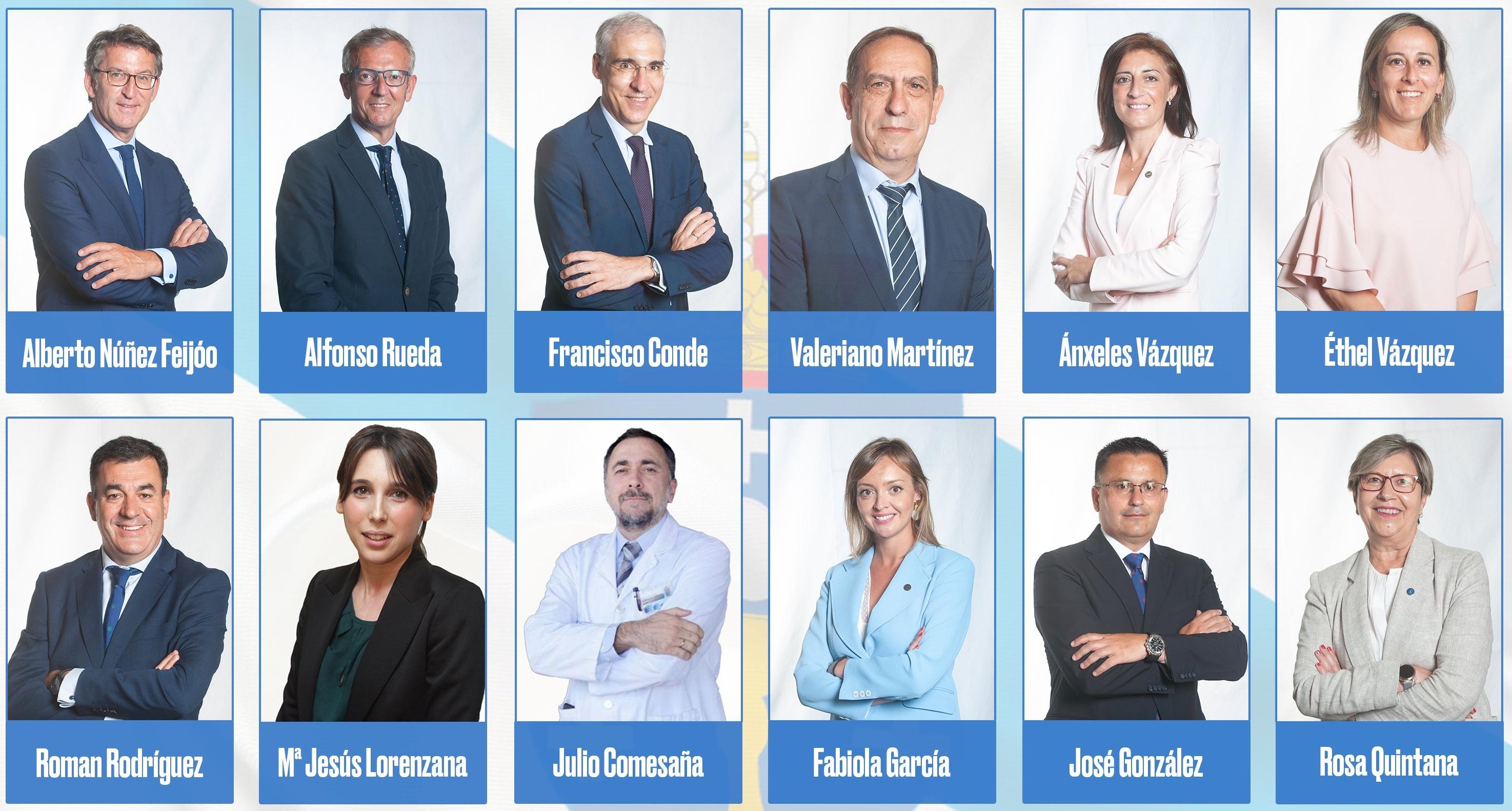 Novo goberno nomeado o 6 de setembro de 2020 nunha imaxe divulgada polo PP
