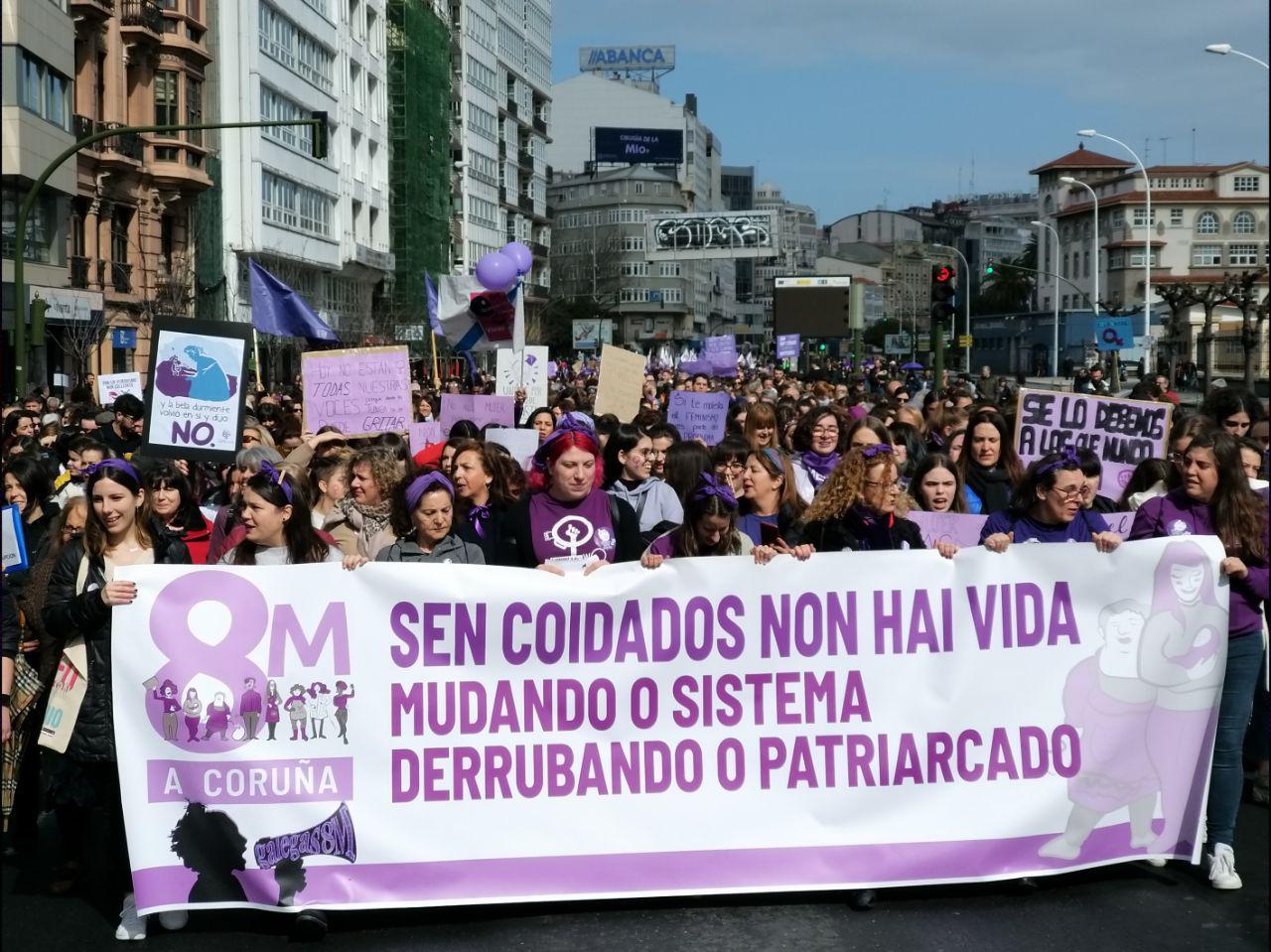 Manifestación do 8M na Coruña