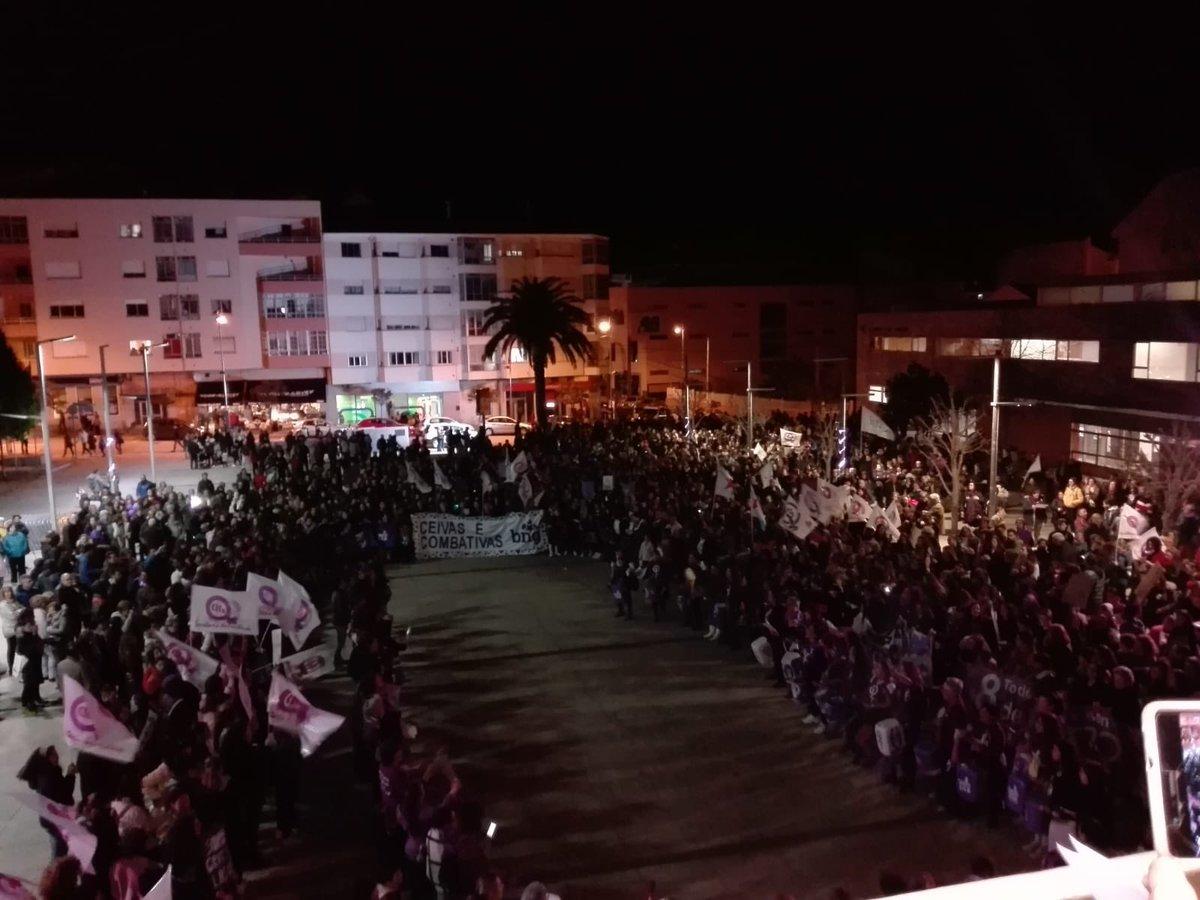 Manifestación en Burela 8M 2019