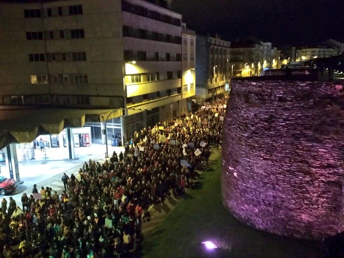 Manifestación en Lugo 8M 2019