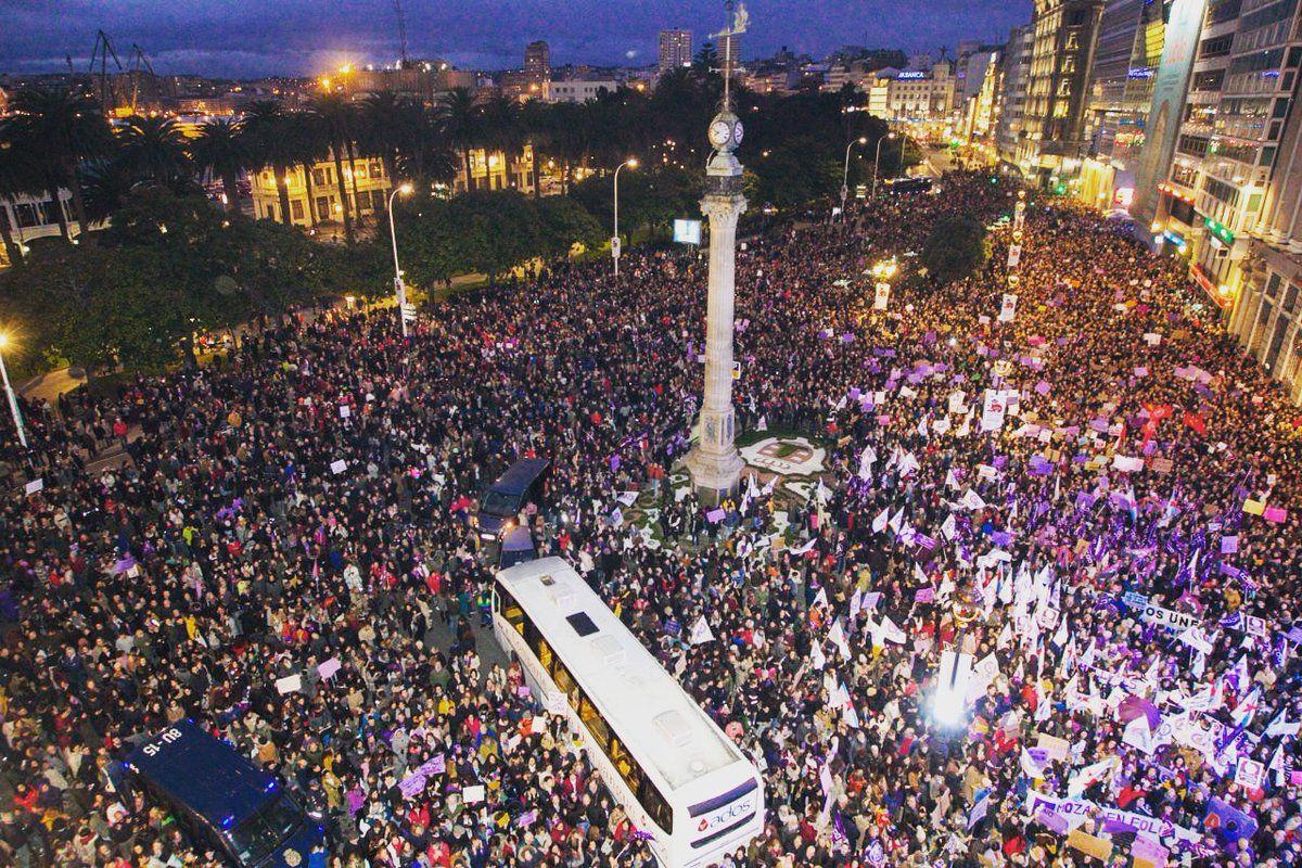 Manifestación na Coruña 8M 2019