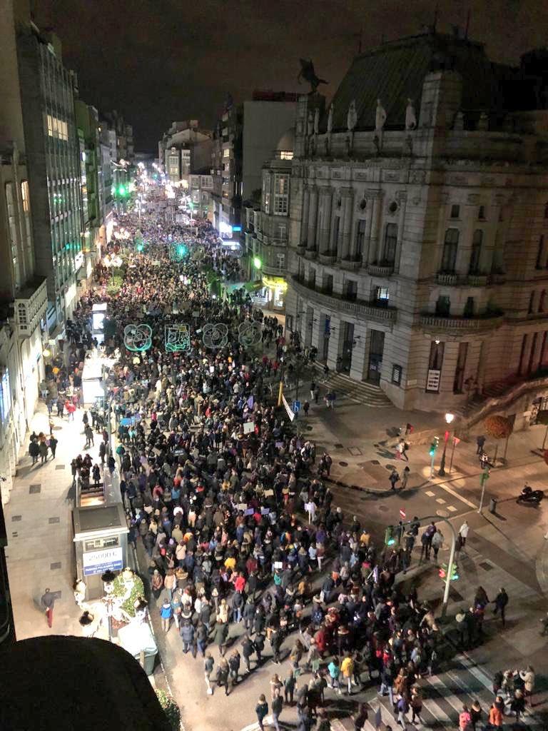 Manifestación en Vigo 8M 2019