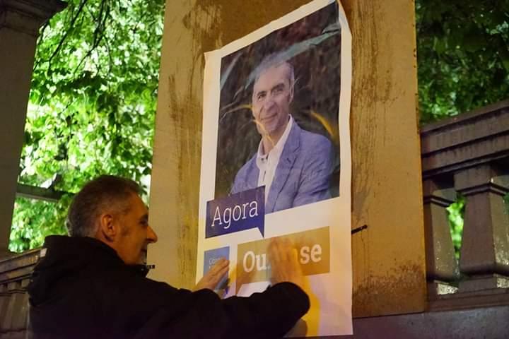 26M - Pegada de carteis do BNG en Ourense