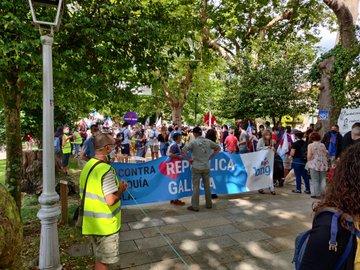 Saída da Alameda da marcha deste 25 de xullo