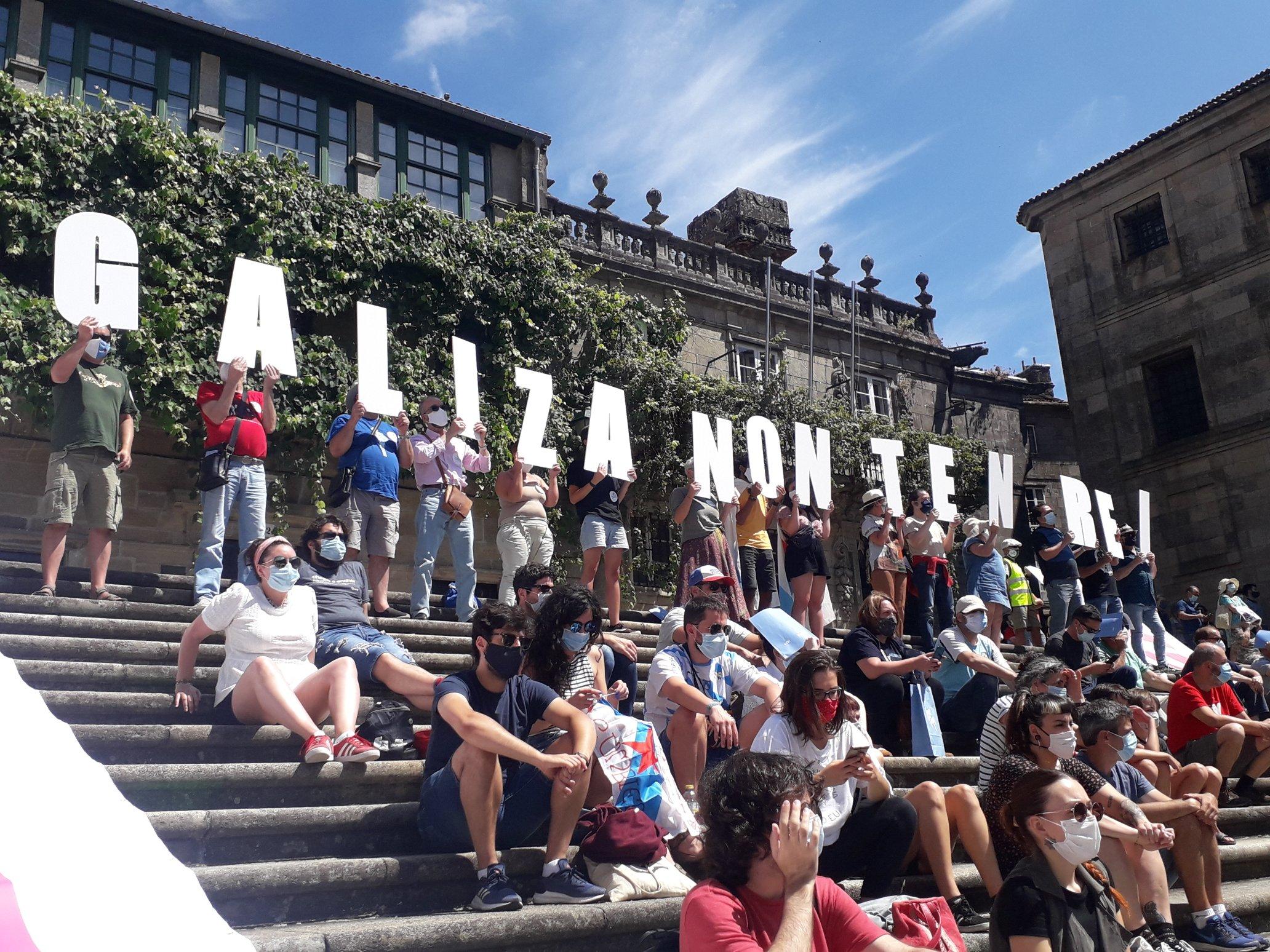 """Acto do BNG en Compostela: """"Galiza non ten Rei"""""""