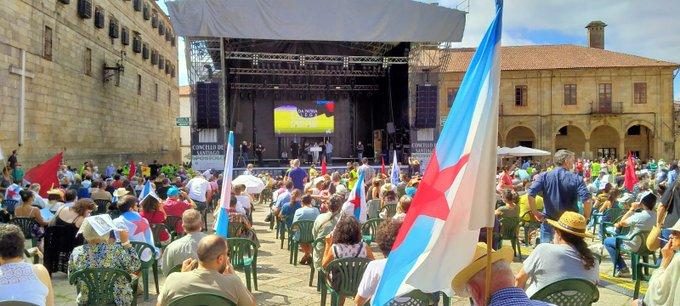 Acto do BNG en Compostela