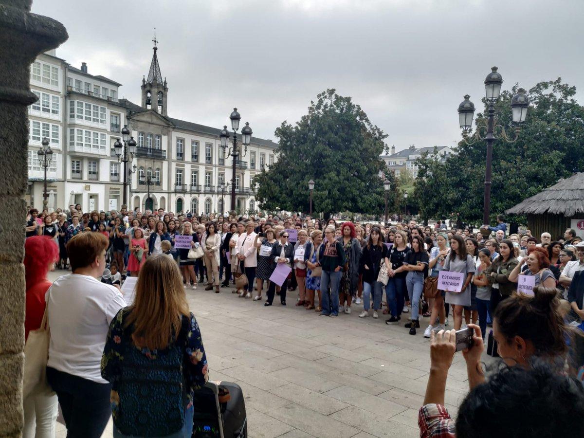 Mobilización feminista en Lugo contra os asasinatos de Valga, o 19 de setembro de 2019