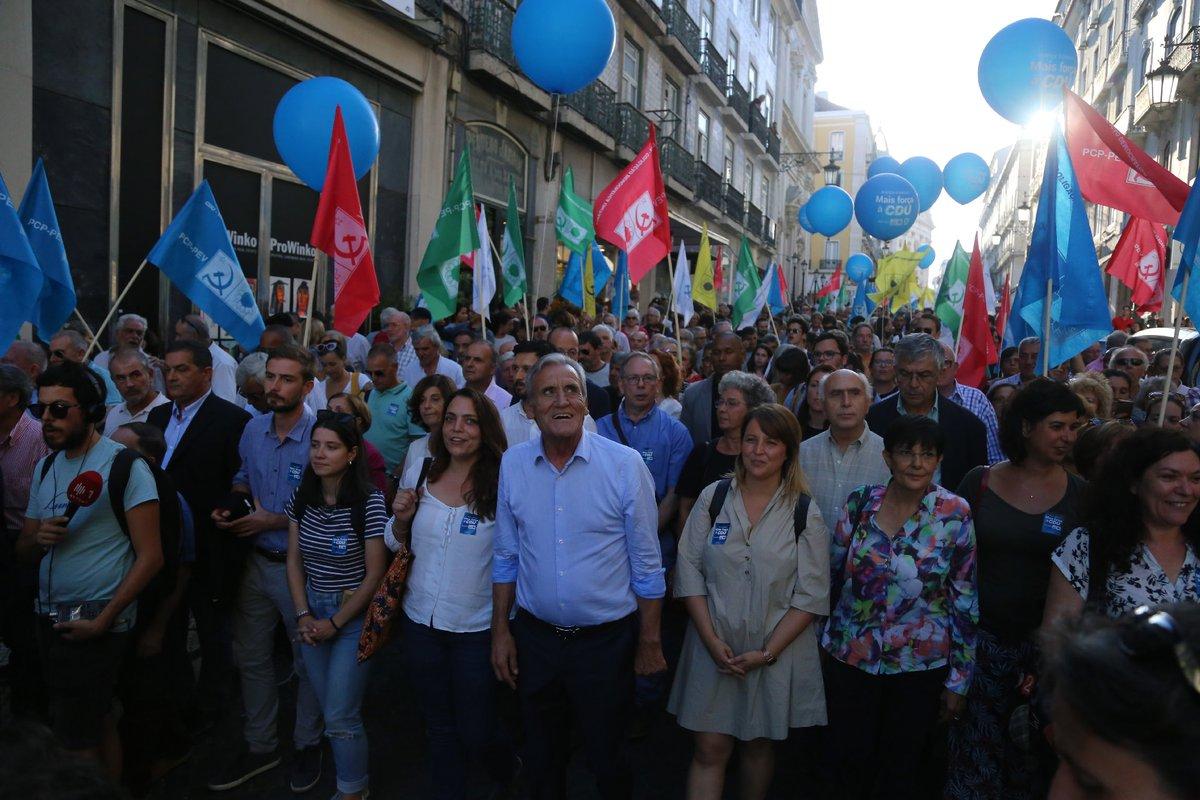 Ruada da CDU en Lisboa