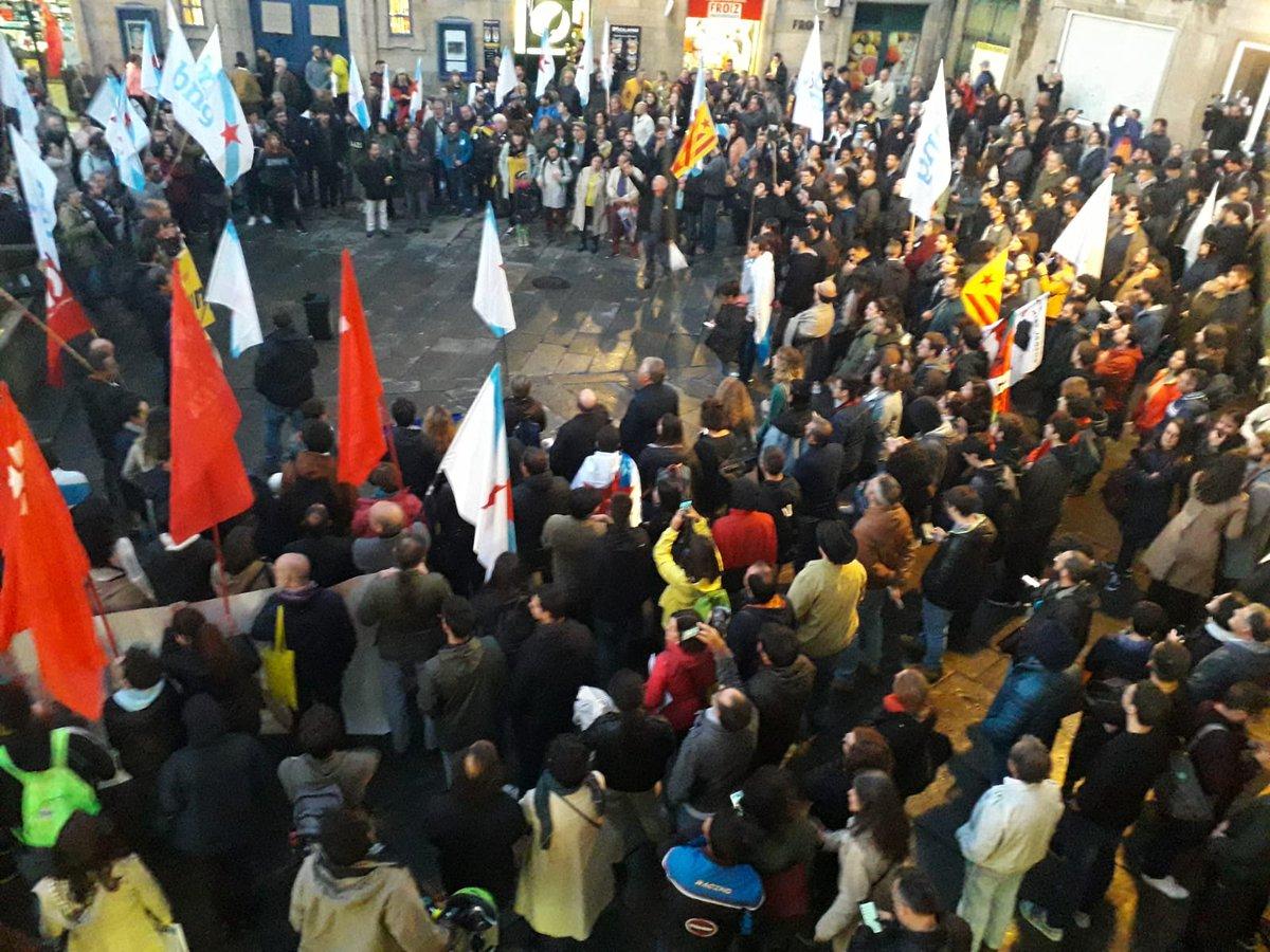 Mobilización de Galiza con Catalunya en Santiago CC BY-NC-SA BNG