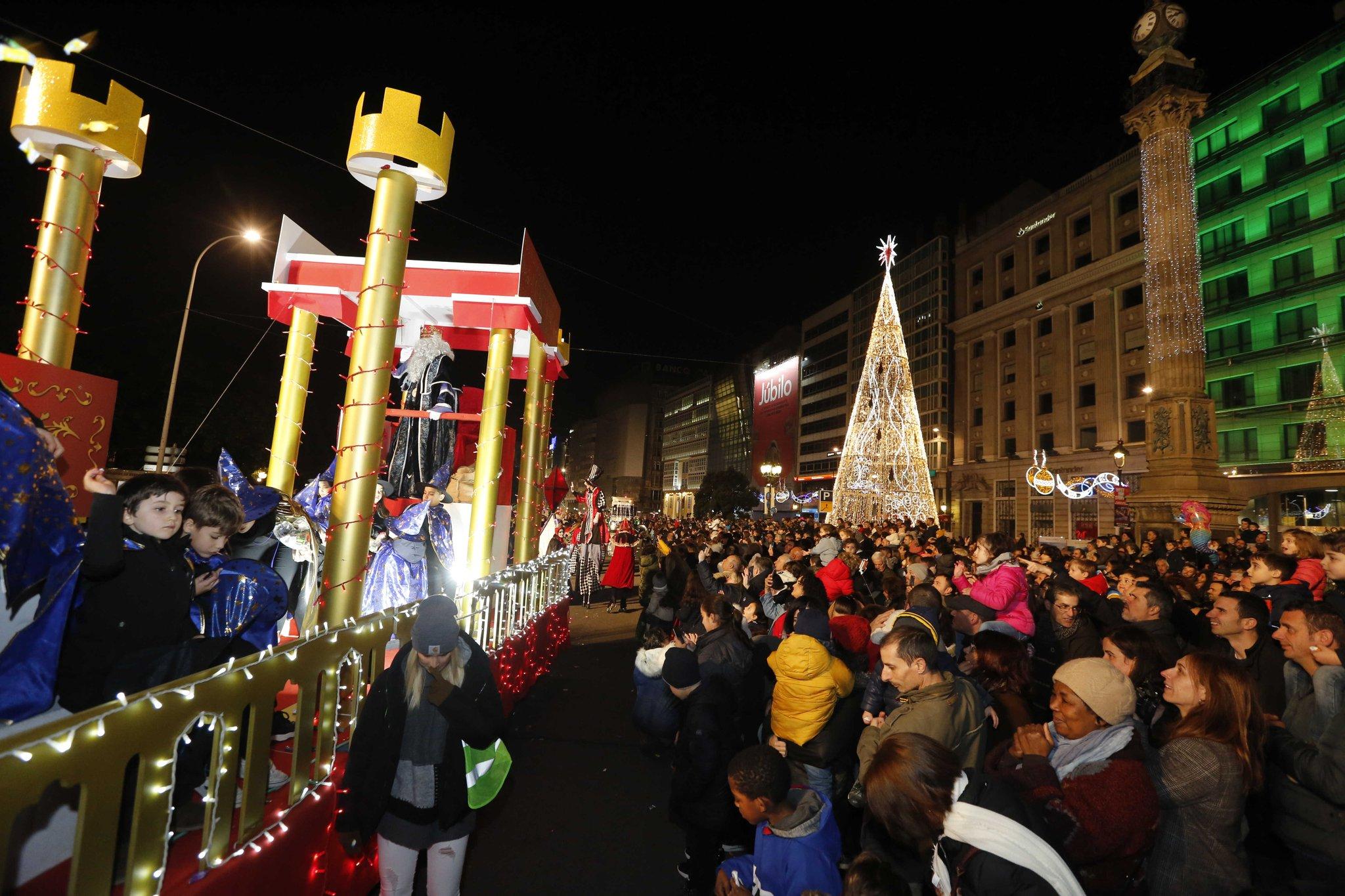 Os Reis Magos na Coruña