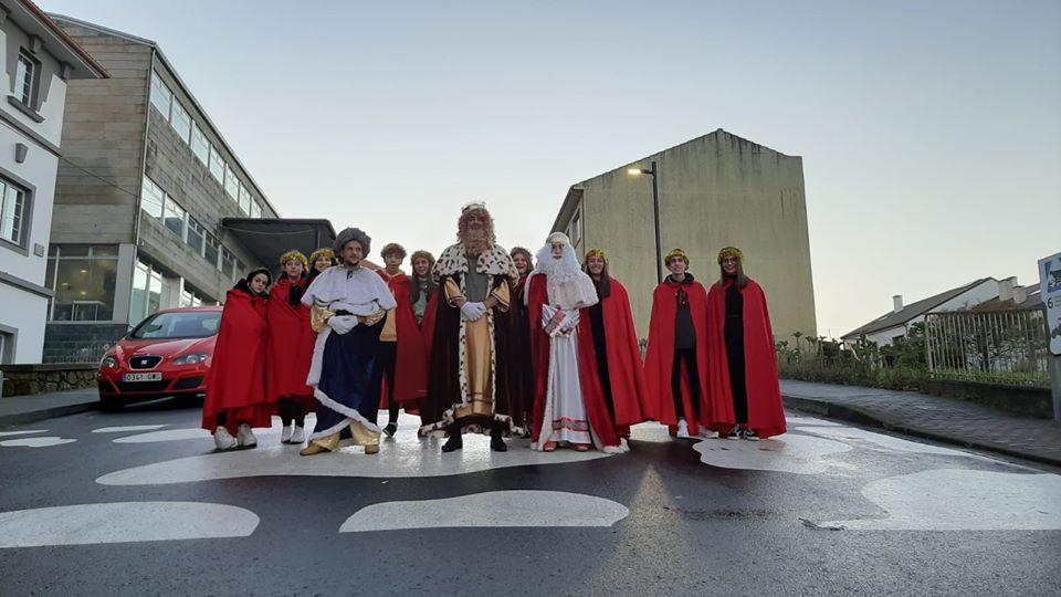 Os Reis Magos en Mazaricos