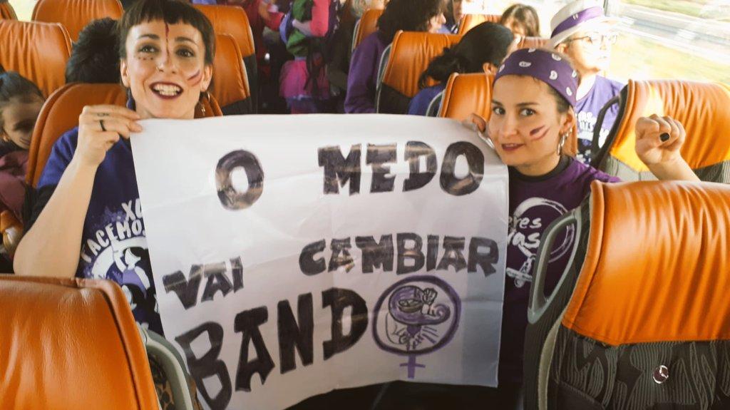 Ducias de autobuses chegaron a Verín dende toda Galicia
