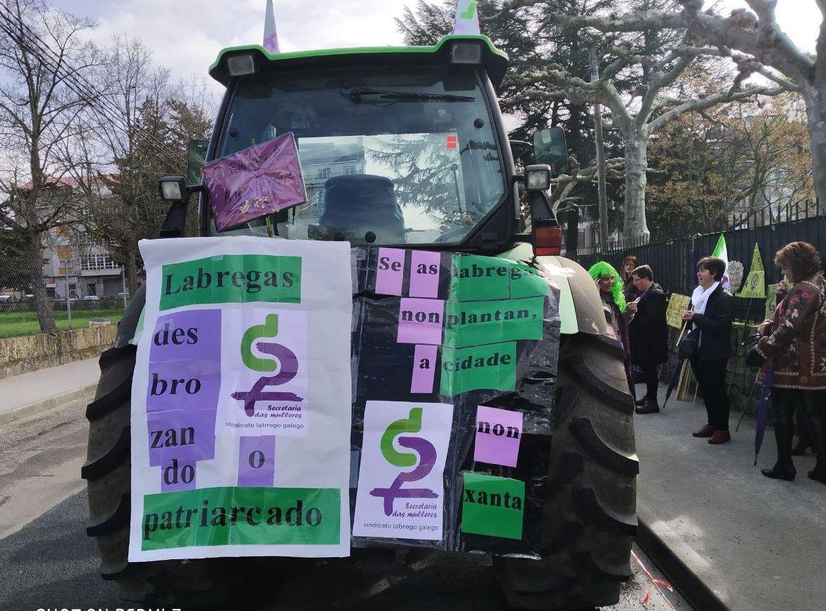 As mulleres labregas estiveron moi presentes na manifestación