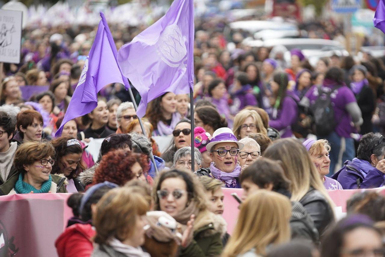 Manifestación do feminismo en galego en Verín, este domingo