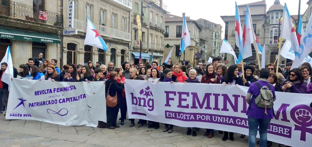Faixa do BNG na manifestación de Verín, este domingo