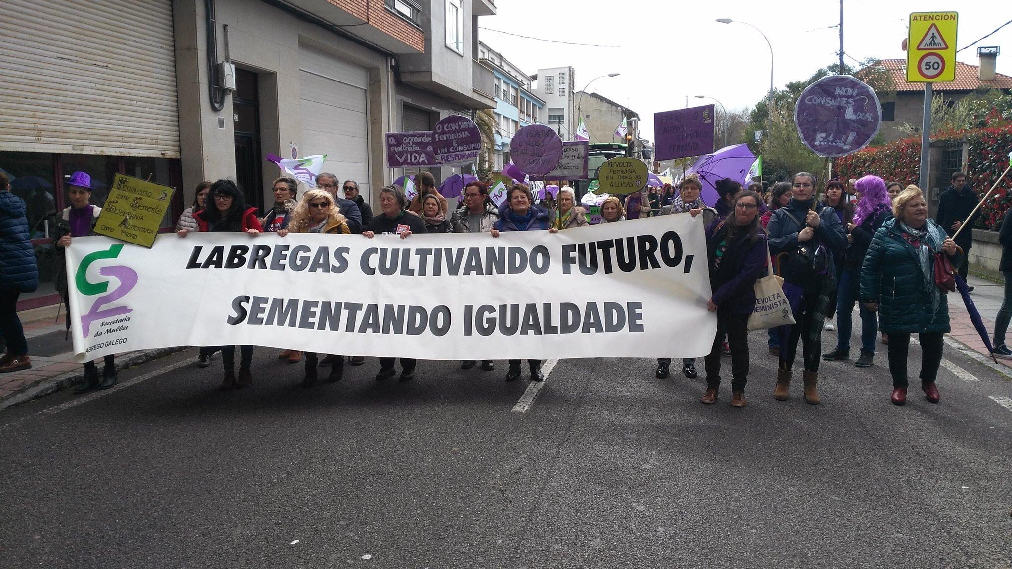 Faixa do SLG na manifestación de Verín
