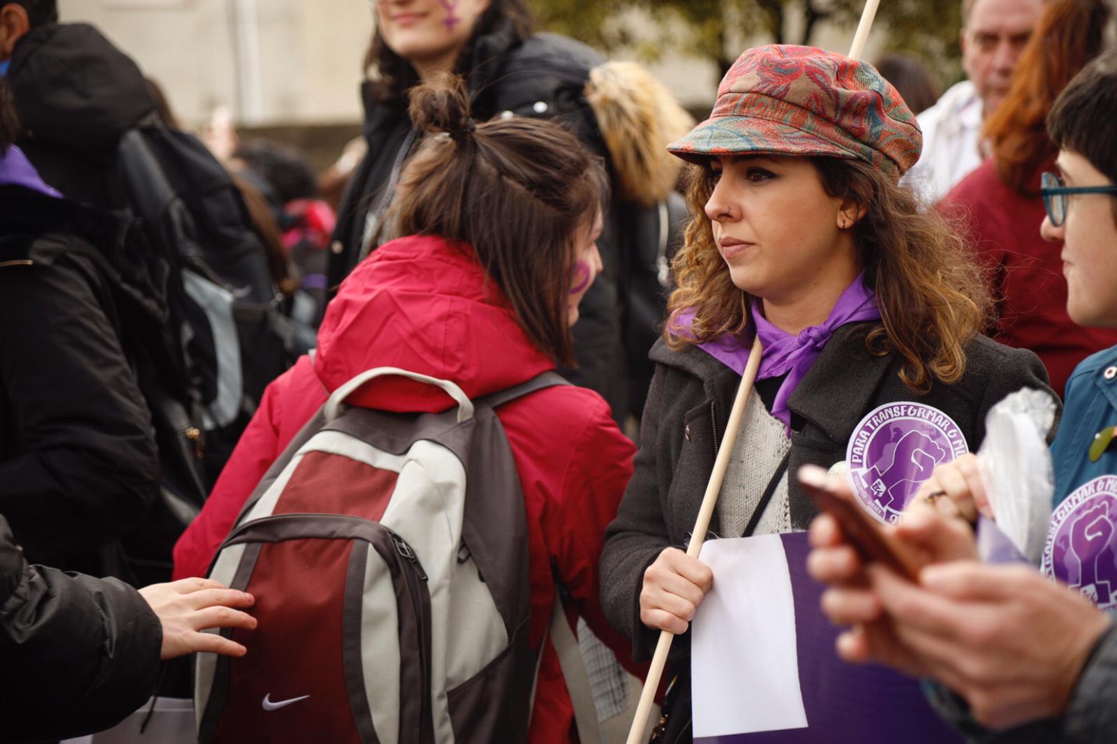 Participantes na manifestación de Verín