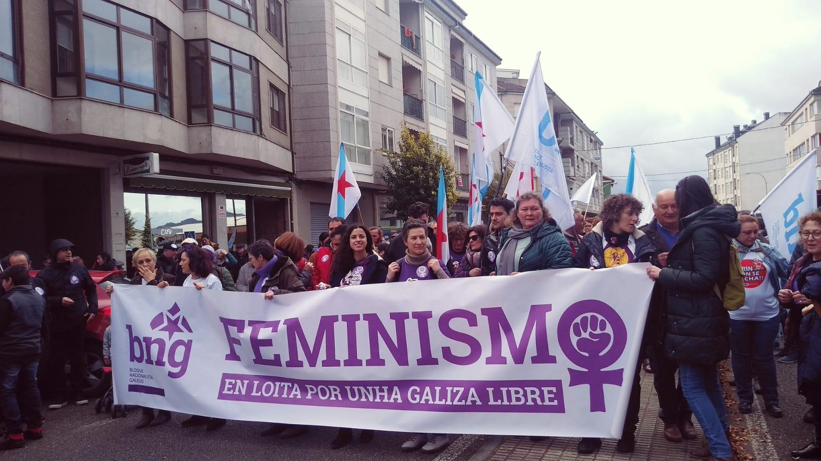 Faixa do BNG na manifestación de Verín