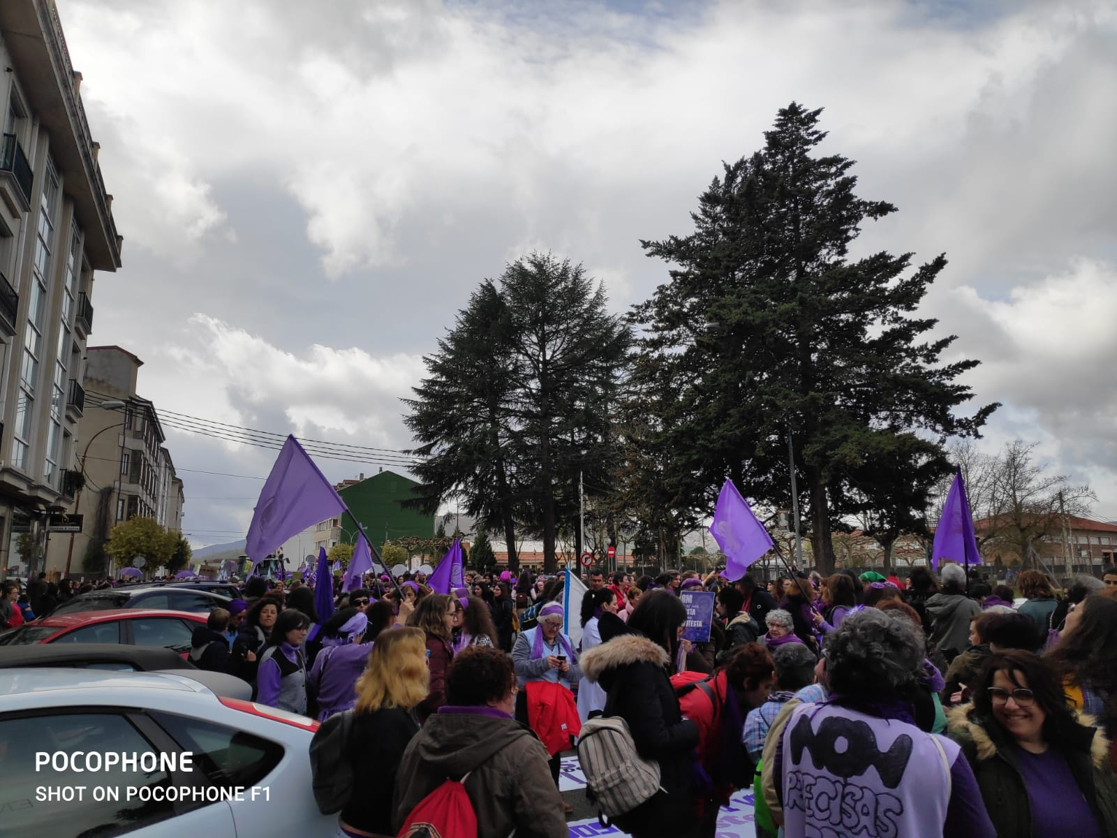 Inicio da manifestación en Verín