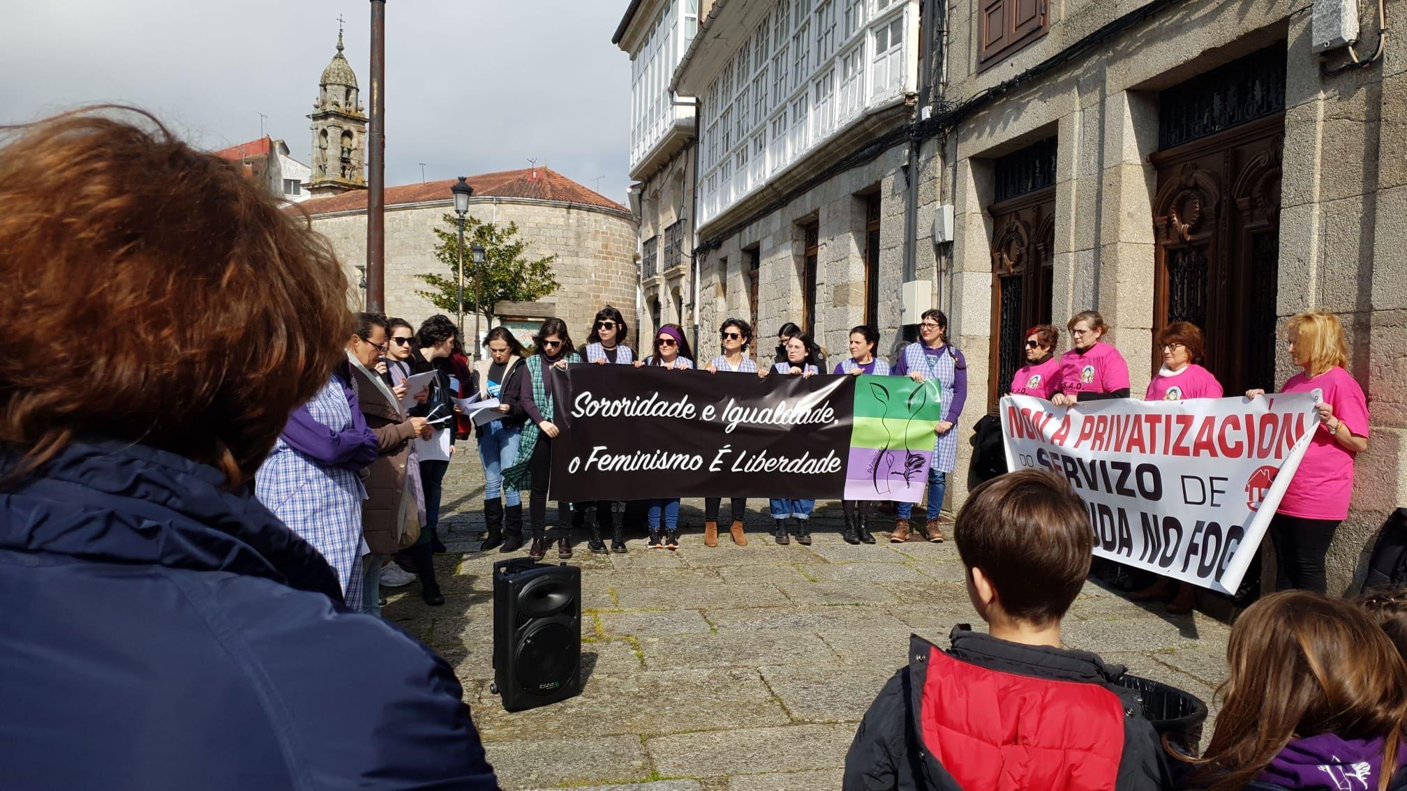 Concentración feminista en Chantada
