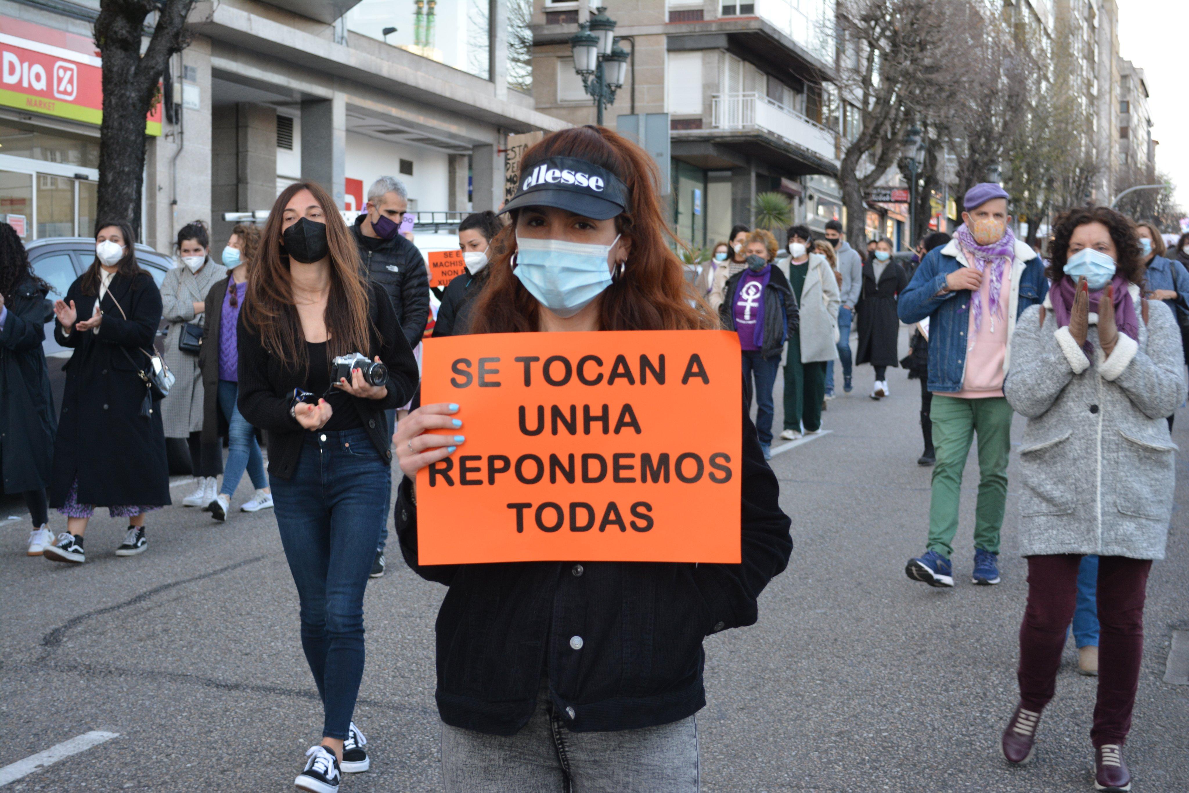Manifestación en Vigo 8M 2021