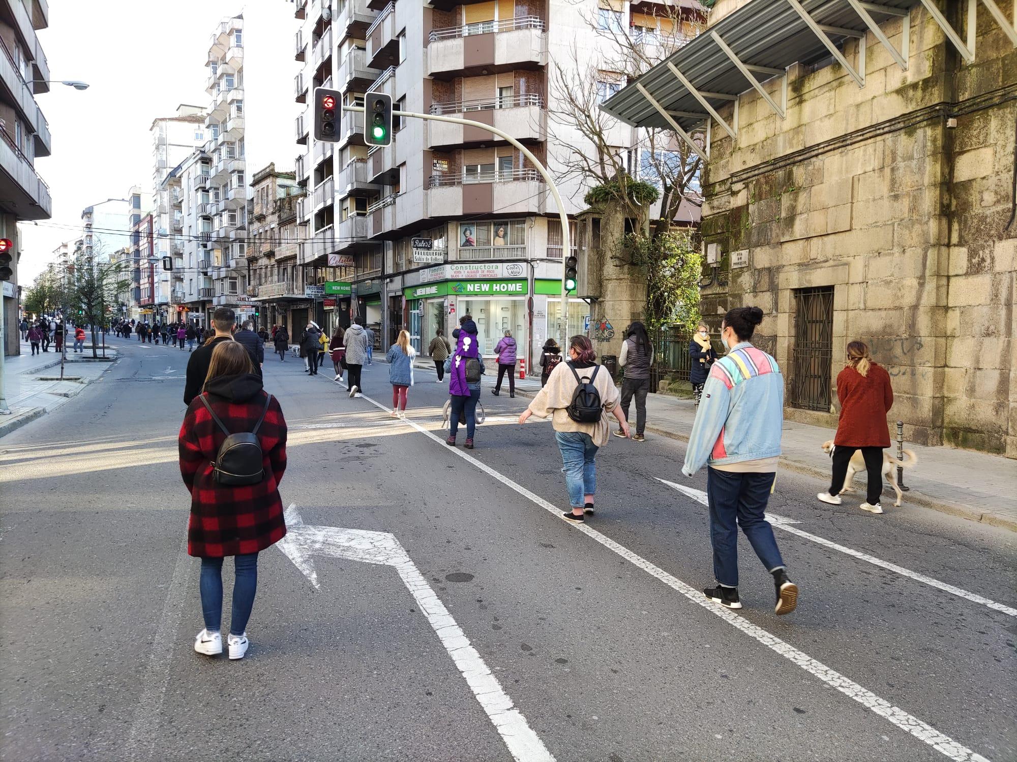 Manifestación en Ourense 8M 2021