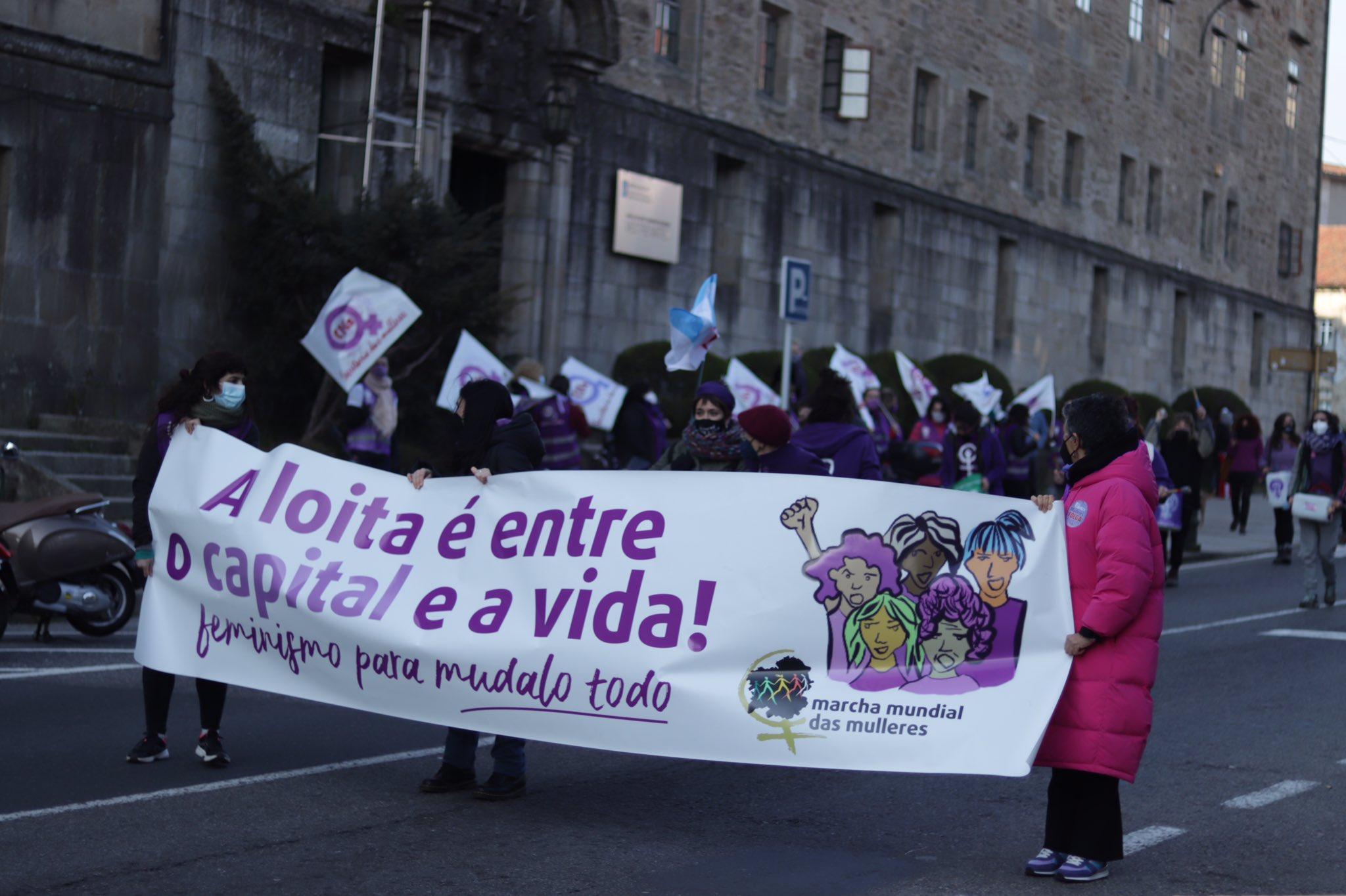 Manifestación en Compostela 8M 2021