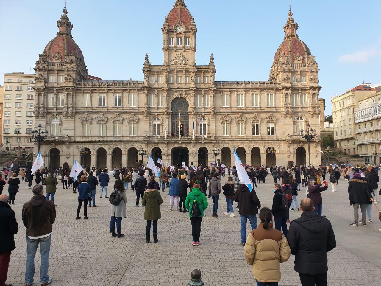 Manifestación na Coruña 8M 2021