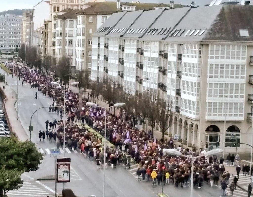 Manifestación do 8M en Ferrol divulgada por @Galegas8M