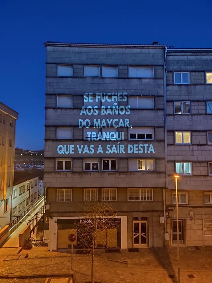 Proxección en Compostela