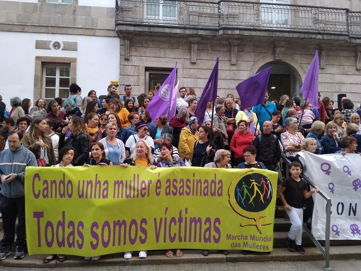 Mobilización en Vigo en repulsa polos asasinatos de Valga, o 19 de setembro de 2019