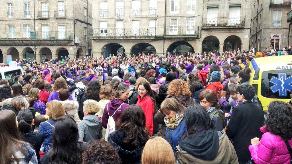 Concentración do 8M en Ourense, nunha imaxe divulgada por Galiza Nova