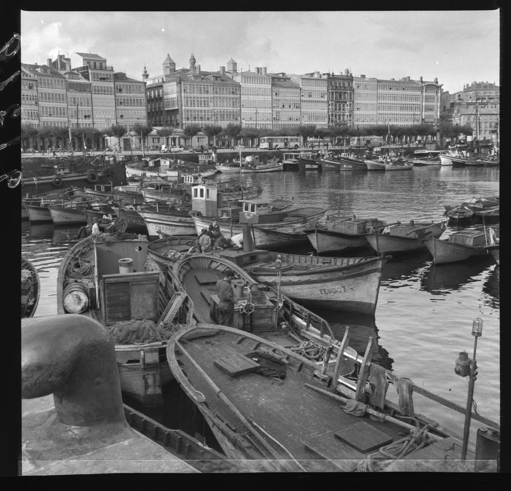 A Coruña, no ano 1963. Arquivo Pando